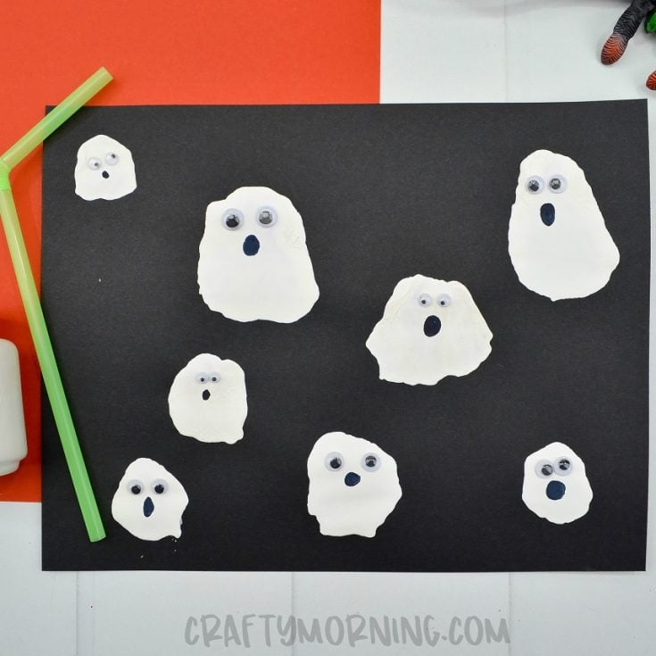 Ghost Blow Straw Craft