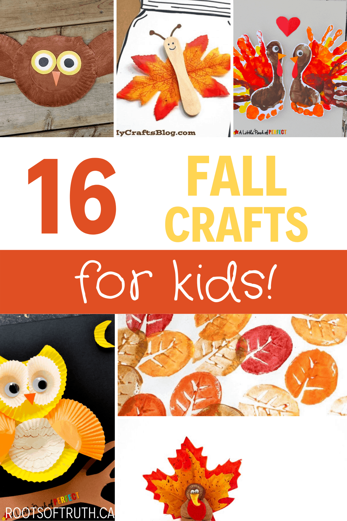 fall crafts for kids/halloween/autumn/diy/kids/easy/fun