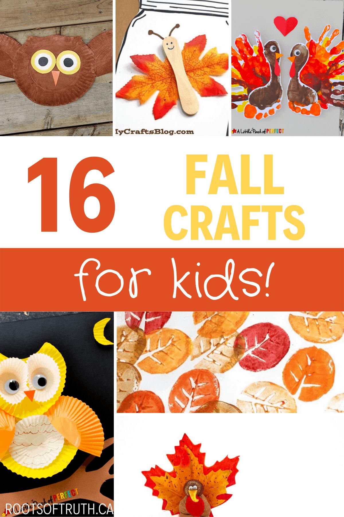 fall crafts for kids/halloween/autumn/diy/kids/easy/fun