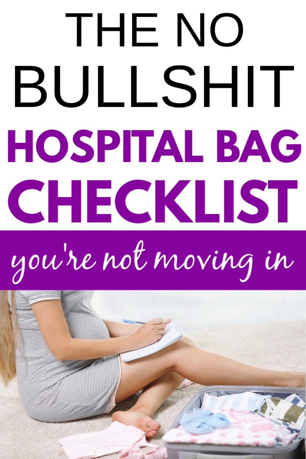 printable hospital bag checklist for mommy/hospital bag checklist for mom to be
