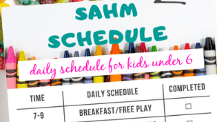 A Realistic Stay At Home Mom Schedule (for kids under 6)