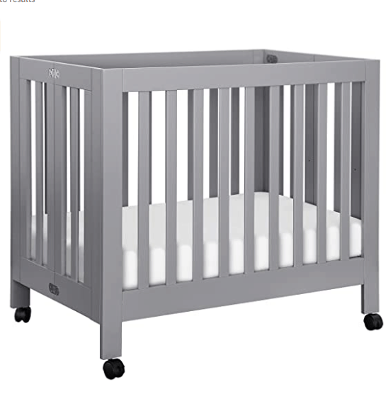 best convertible mini crib with wheels