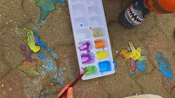 chalk paint for sidewalk
