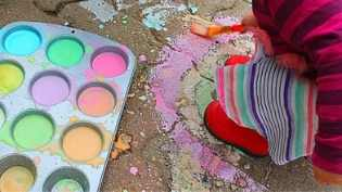 DIY Sidewalk Chalk Paint {includes 3 recipes!}