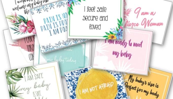 birth affirmation cards