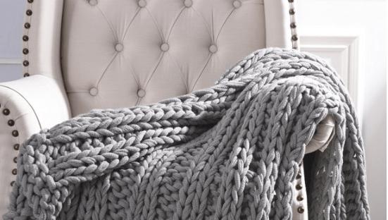 Cottage Lane Chunky Knit Throw Blanket