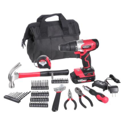 Hyper Tough Cordless Drill & 70-Piece Tool Set